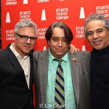 Neil Pepe, Stephen Adly Guirgis & John Ortiz. Photo by Lia Chang