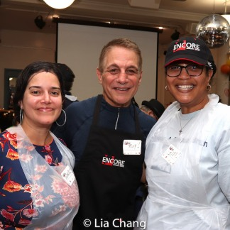 Tony Danza with volunteers on Thanksgiving Day at Encore Senior Center at St. Malachy's in New York. Photo by Lia Chang