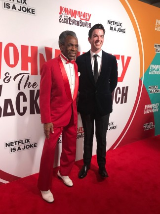 André De Shields and John Mulaney attend the John Mulaney & The Sack Lunch Bunch NY Special Screening at The Metrograph on December 16, 2019 in New York City. Photo by Lia Chang