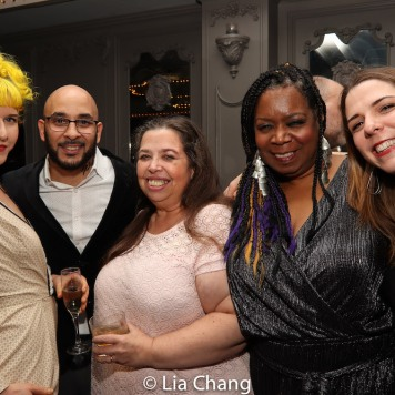 Christine Barringer, Victor Almanzar, Kristina Poe, Benja K. Thomas and Molly Collier. Photo by Lia Chang