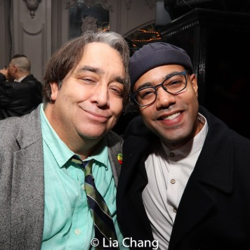 Stephen Adly Guirgis and Sean Carvajal. Photo by Lia Chang