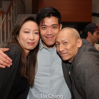 Jane Lui, Moses Villarama and Francis Jue. Photo by Lia Chang