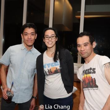 Mose Villarama, Lauren Yee and Joe Ngo at Signature Theatre. Photo by Lia Chang