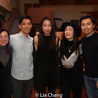 Pricilla Liang-Kim, Moses Villarama, Cassandra Lopez and Jane Lui and a guest. Photo by Lia Chang