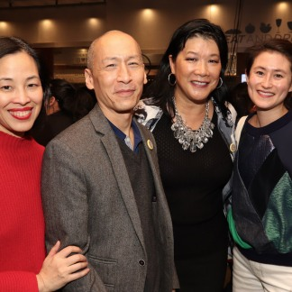Lia Chang, Francis Jue, Nadine Wong and Sunny Hitt. Photo by Garth Kravits
