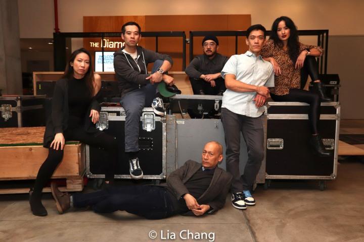 CAMBODIAN ROCK BAND cast members Jane Lui, Joe Ngo, Francis Jue, Abraham Kim, Moses Villarama and Courtney Reed. Photo by Lia Chang