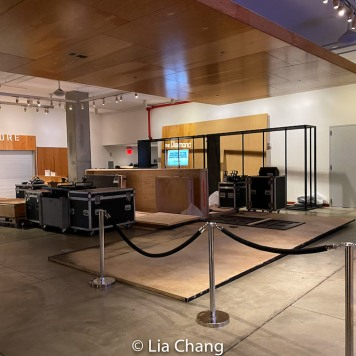 The CAMBODIAN ROCK BAND set in the lobby of Pershing Square Signature Center in New York on January 15, 2020. Photo by Lia Chang