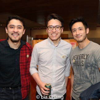 Two Jasons and Hansel Tan. Photo by Lia Chang
