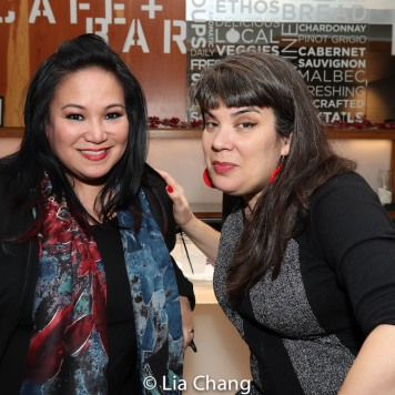 Sibyl Reymundo-Santiago and a guest. Photo by Lia Chang