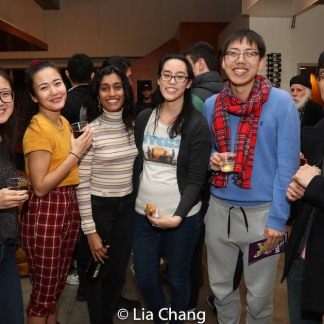 Lauren Yee (center) and guests. Photo by Lia Chang
