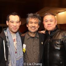 Joe Ngo, David Henry Hwang and Chay Yew. Photo by Lia Chang