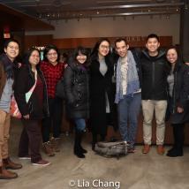 Joe Ngo and students from Harvard. Photo by Lia Chang