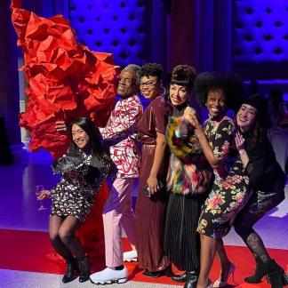 Kay Trinidad, André De Shields, Khaila Wilcoxon, Yvette Gonazalez-Nacer, Kimberly Marable and Jessie Shelton. Photo by Lia Chang