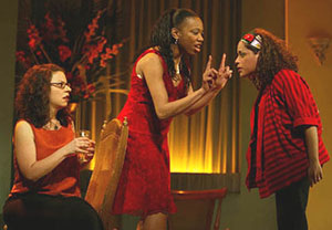 Melissa Feldman, Portia, and Liza Colon-Zayas in Our Lady of 121st Street at Union Square Theater in 2003. Photo: © Joan Marcus