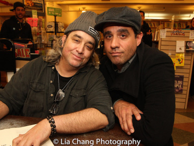 Stephen Adly Guirgis and Bobby Cannavale. Photo by Lia Chang
