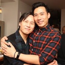 BD Wong and Grant Chang. Photo by Lia Chang