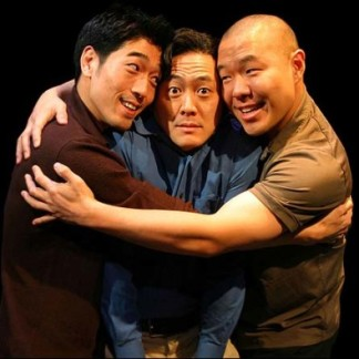 Peter Kim, Paul H. Juhn and Hoon Lee in SIDES. Photo © Brian Barenio