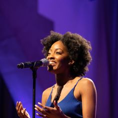 """Kayla Davion performing """"Easy as Life."""" Courtesy of The Cooper Union/Photo by Marget Long"""