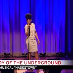"""Kimberly Marable performing """"Our Lady of the Underground."""" Courtesy of The Cooper Union/Photo by Marget Long"""