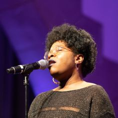 """Vanisha Gould performing """"Summertime."""" Courtesy of The Cooper Union/Photo by Marget Long"""