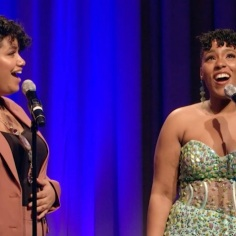 """Genesis Collado and Alexia Sielo sing """"What About Love"""" from the musical """"The Color Purple"""""""