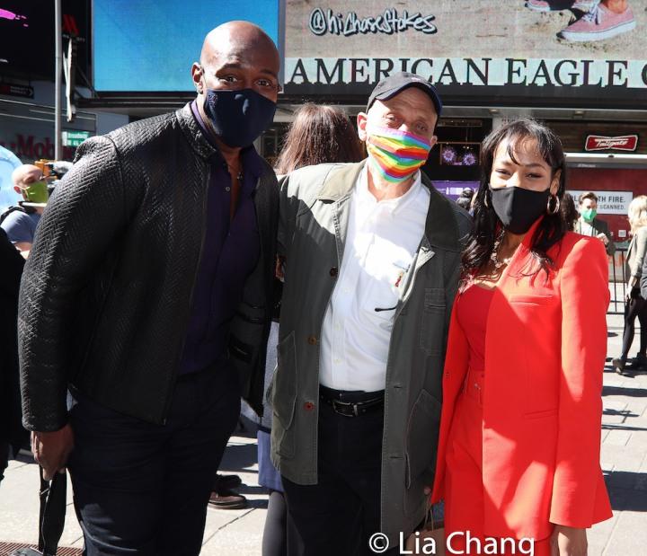 John Eric Parker, Tom Viola and Nikki M. James. Photo by Lia Chang