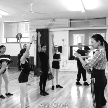 Lainie Sakakura teaches her Sakachez dance students. Photo by Lia Chang