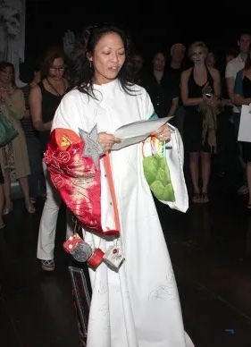 Kristine Bendul received the Robe for her work in Twyla Tharp's COME FLY AWAY in 2010.