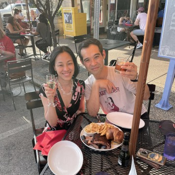 Lia Chang and Joe Ngo at Salt & Smoke on Delmar in The Loop, St. Louis, MO on Jun. 5, 2021.