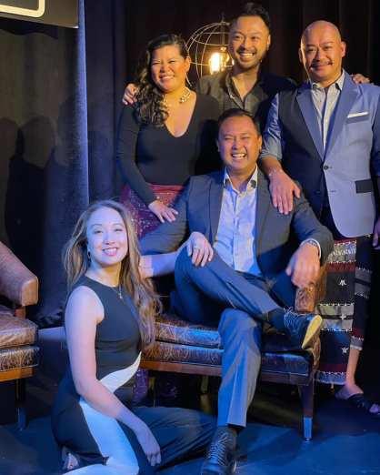 Jaygee Macapugay, Liz Casasola, DonMike H. Mendoza, Billy Bustamante and Brian Jose. Photo courtesy of DonMike H. Mendoza/Facebook