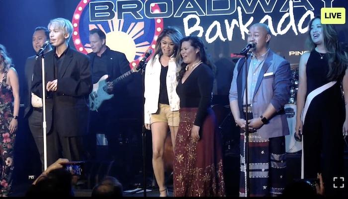 DonMike Mendoza, Jourdan Ibe, Charlene Carabeo, Liz Casasola, Brian Jose and Jaygee Macapugay. Photo by Lia Chang