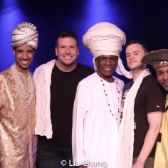 Sean Mayes, Tom D'Angora, André De Shields, Michael D'Angora, Andrew Atkinson. Photo by Lia Chang