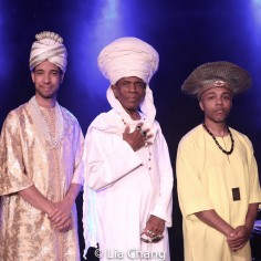 Sean Mayes, André De Shields, Andrew Atkinson. Photo by Lia Chang