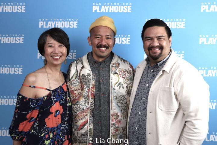 Jeanne Sakata, Jomar Tagatac, Jeffrey Lo. Photo by Lia Chang