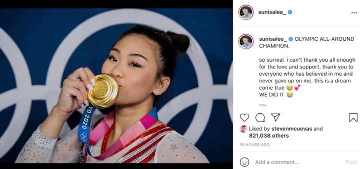 July 30, 2021 is Sunisa Lee Day Photo: Instagram