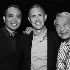 Jose Llana, Robert Longbottom, Alvin Ing. Photo by Lia Chang