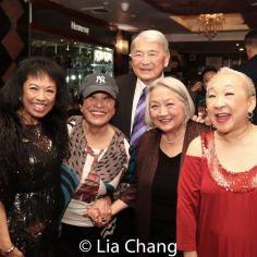 Baayork Lee, Pat Suzuki, Alvin Ing, Virginia Wing and Lori Tan Chinn. Photo by Lia Chang
