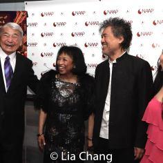 Alvin Ing, Baayork Lee, David Henry Hwang and Yuka Takara. Photo by Lia Chang