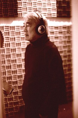 Alvin Ing in the recording studio for cast recording of the Broadway revival of Flower Drum Song on October 21, 2002. Photo by Lia Chang