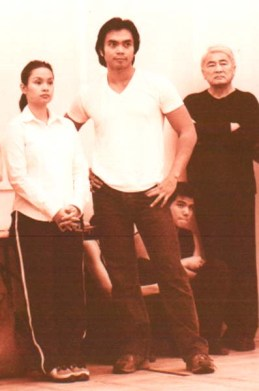 Lea Salonga, Jose Llana and Alvin Ing in rehearsal for the Broadway revival of Flower Drum Song on September 15, 2002. Photo by Lia Chang