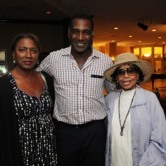 Saundra McClain, Norm Lewis, Micki Grant at the National Black Theatre Festival in Winston-Salem, NC on July 28, 2013. Photo by Lia Chang