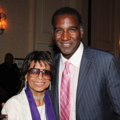 Micki Grant and Norm Lewis at the National Black Theatre Festival in Winston-Salem, NC on July 29, 2013. Photo by Lia Chang