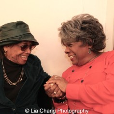 Micki Grant and Tina Fabrique. Photo by Lia Chang