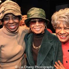 Marjorie Johnson, Micki Grant and Tina Fabrique. Photo by Lia Chang