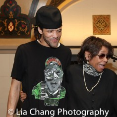 Savion Glover and Micki Grant. Photo by Lia Chang
