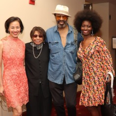 Lia Chang, Micki Grant, Anthony Chisholm and Lori Minor. Photo by Marjorie Johnson