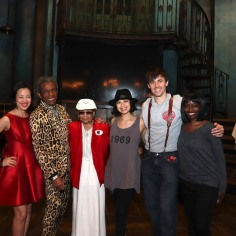 Lia Chang, André De Shields, Micki Grant, Reeve Carney and Lori Minor. Photo by Lia Chang