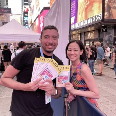 Playbill's Creative Director Bryan Campione and Lia Chang